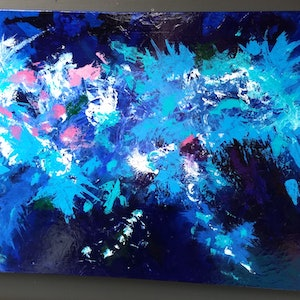 (CreativeWork) Coral Seas by Tracy Hocking. acrylic-painting. Shop online at Bluethumb.