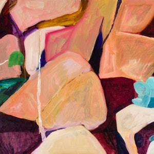 (CreativeWork) Scree by Colin Palethorpe. oil-painting. Shop online at Bluethumb.