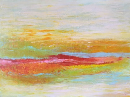 (CreativeWork) Landscape 63 by kezz hall. arcylic-painting. Shop online at Bluethumb.
