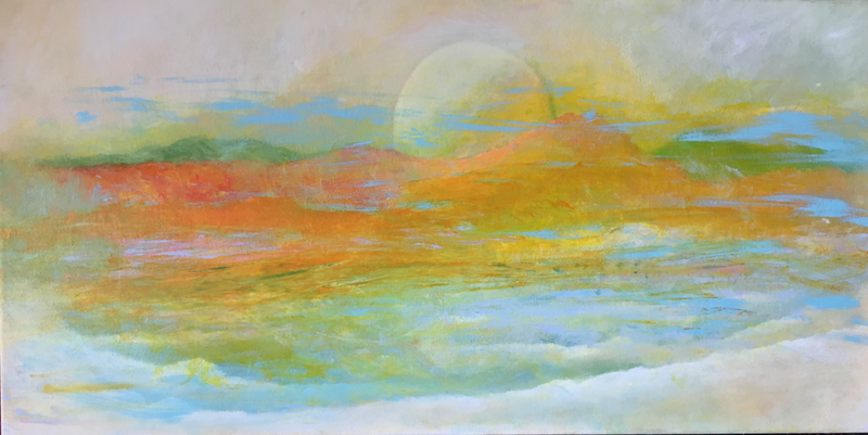 (CreativeWork) Landscape 4 by kezz hall. arcylic-painting. Shop online at Bluethumb.