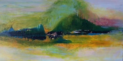 (CreativeWork) Landscape 7 by kezz hall. arcylic-painting. Shop online at Bluethumb.