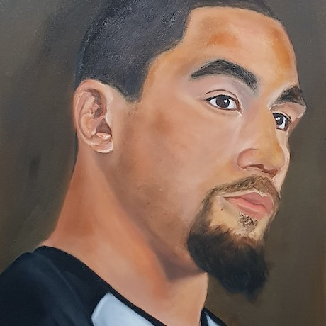 """(CreativeWork) Robert """"The Reaper"""" Whittaker Oil On Canvas by Lorenze Singh. Oil Paint. Shop online at Bluethumb."""