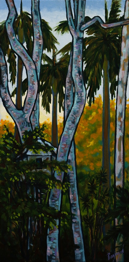 (CreativeWork) Daydreams with Nature  by Judi Parkinson. oil-painting. Shop online at Bluethumb.