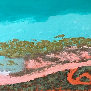 (CreativeWork) Broome Aerial  by Ingrid Russell. arcylic-painting. Shop online at Bluethumb.