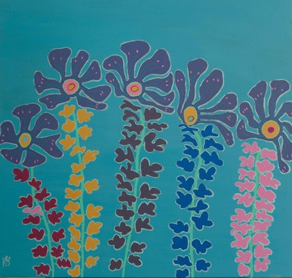 (CreativeWork) Our Land by Helen Joynson. arcylic-painting. Shop online at Bluethumb.