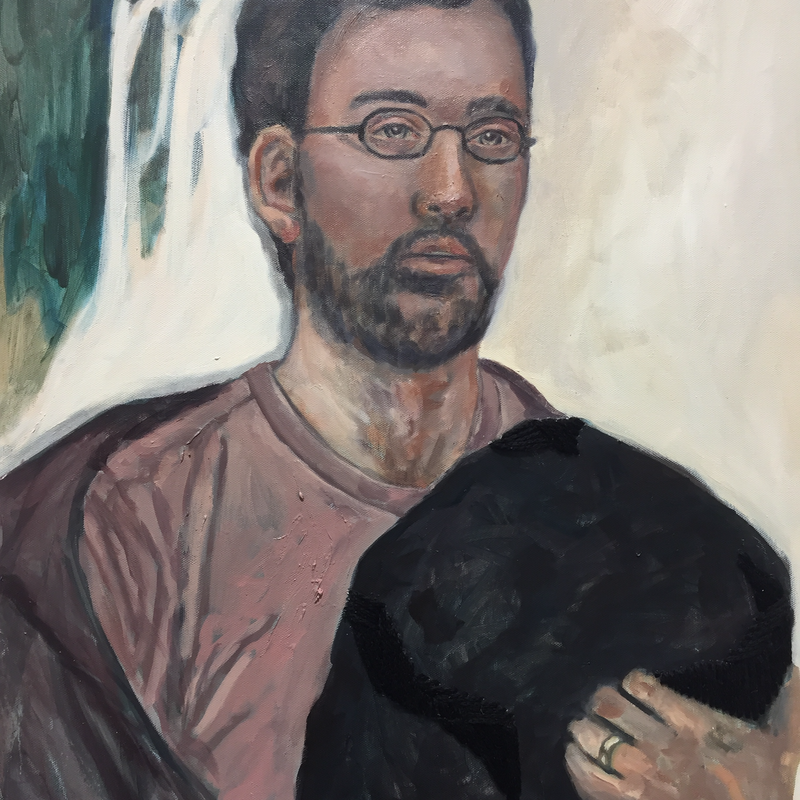 (CreativeWork) Father Artist by Joni Sercombe. oil-painting. Shop online at Bluethumb.