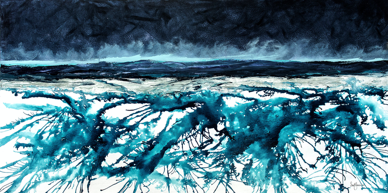 (CreativeWork) Only a Splash in The Ocean by scott jackson. mixed-media. Shop online at Bluethumb.