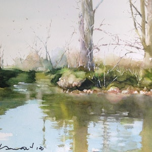 (CreativeWork) lagoon by peter smart. watercolour. Shop online at Bluethumb.