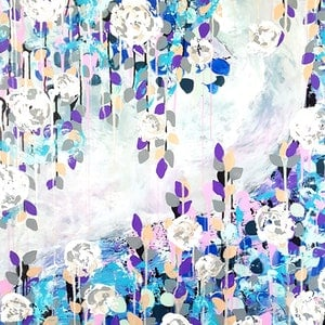 (CreativeWork) Winter Glory - SALE (was $1,300) by Emily Lauro. arcylic-painting. Shop online at Bluethumb.