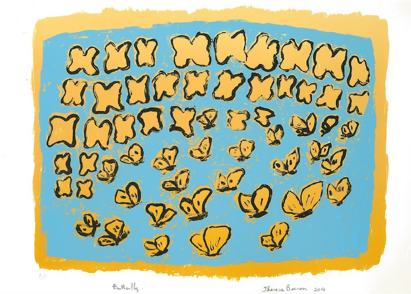 (CreativeWork) Butterflies Flying  2/15 (Limited Edition Screen Print) by Theresa Beeron. #<Filter:0x00007f7b94619df8>. Shop online at Bluethumb.