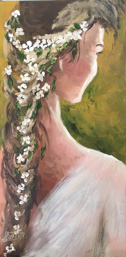 (CreativeWork) The bride of dreams by atefeh hekmat. oil-painting. Shop online at Bluethumb.