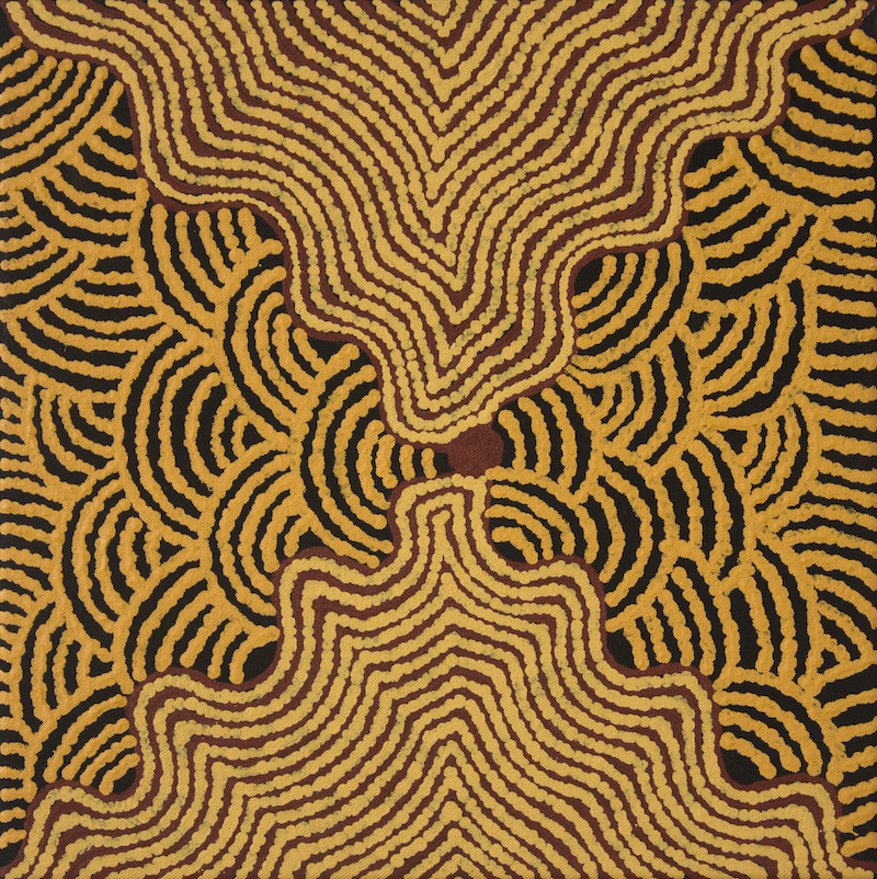 (CreativeWork) Kapi Tjukurrpa 651-17 by Pam Brown. arcylic-painting. Shop online at Bluethumb.