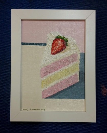 (CreativeWork) Cake 1 by nashwan alessa. oil-painting. Shop online at Bluethumb.