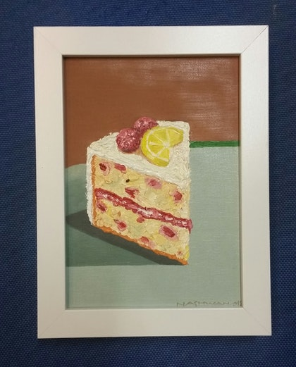 (CreativeWork)  Cake 2 by nashwan alessa. oil-painting. Shop online at Bluethumb.