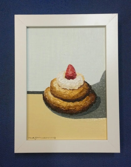 (CreativeWork) Cake 3 by nashwan alessa. oil-painting. Shop online at Bluethumb.