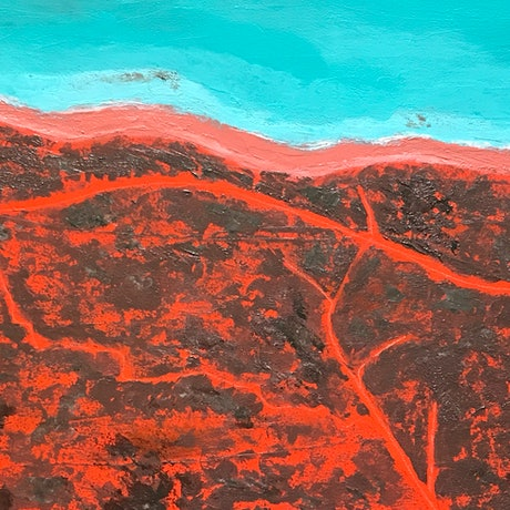 (CreativeWork) Coastal Broome by Ingrid Russell. Acrylic Paint. Shop online at Bluethumb.