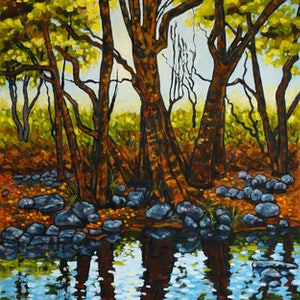 (CreativeWork) Enchanted Afternoon by Judi Parkinson. oil-painting. Shop online at Bluethumb.