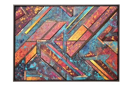 (CreativeWork) Docklands by George Pascalis. mixed-media. Shop online at Bluethumb.