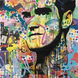 (CreativeWork) Pop Icon No 45 Morrissey  by Cold Ghost. mixed-media. Shop online at Bluethumb.