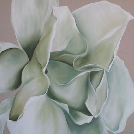 (CreativeWork) White Magnolia  by dorryce rock. Oil Paint. Shop online at Bluethumb.