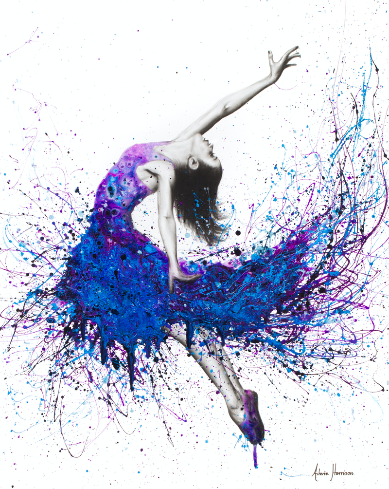(CreativeWork) Evening Sky Dancer by Ashvin Harrison. arcylic-painting. Shop online at Bluethumb.
