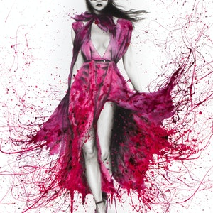 (CreativeWork) Autumn Gucci Rose by Ashvin Harrison. arcylic-painting. Shop online at Bluethumb.