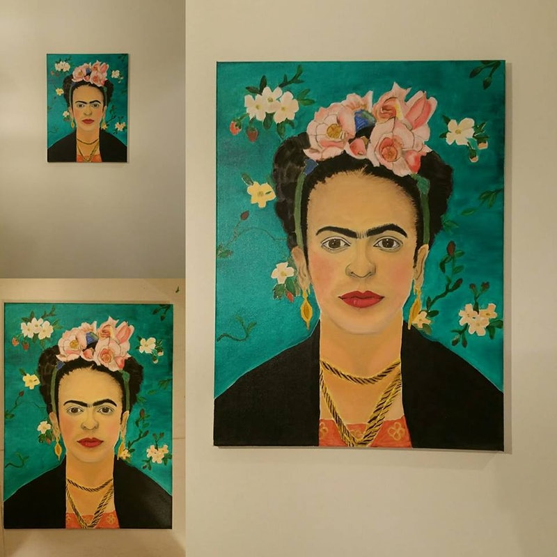 Frida Kahlo Oil Painting On Canvas By Bianka Boyaci Paintings For