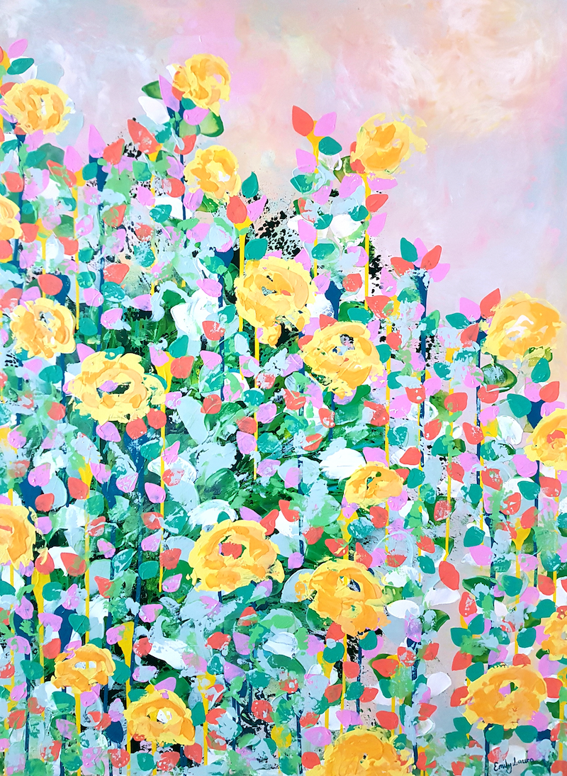 (CreativeWork) Spring Awakening - SALE ( was $1,300) by Emily Lauro. arcylic-painting. Shop online at Bluethumb.