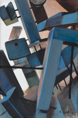 (CreativeWork) Architectural Jungle: Part 5 by Ross Morgan. Acrylic Paint. Shop online at Bluethumb.