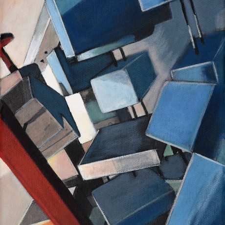 (CreativeWork) Architectural Jungle: Part 7 by Ross Morgan. Acrylic Paint. Shop online at Bluethumb.