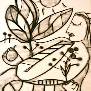 (CreativeWork) A NEW DAY 3 by DEREK ERSKINE. drawing. Shop online at Bluethumb.