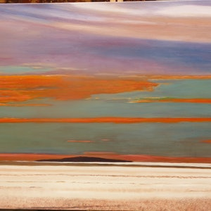(CreativeWork) Lake Eyre  Sunset by Robin Tunnicliffe. #<Filter:0x00007fc1b8889240>. Shop online at Bluethumb.