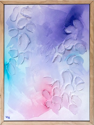 (CreativeWork) Variegated - Textured Pastel Art by Victoria FitzGerald. Mixed Media. Shop online at Bluethumb.