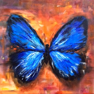 (CreativeWork) Papillon by Gabriele Phillis. oil-painting. Shop online at Bluethumb.