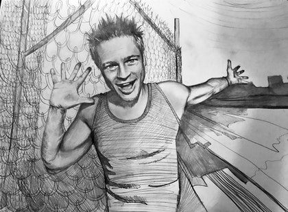 (CreativeWork) Fight Club by Maryia Yepanchyntsava. drawing. Shop online at Bluethumb.