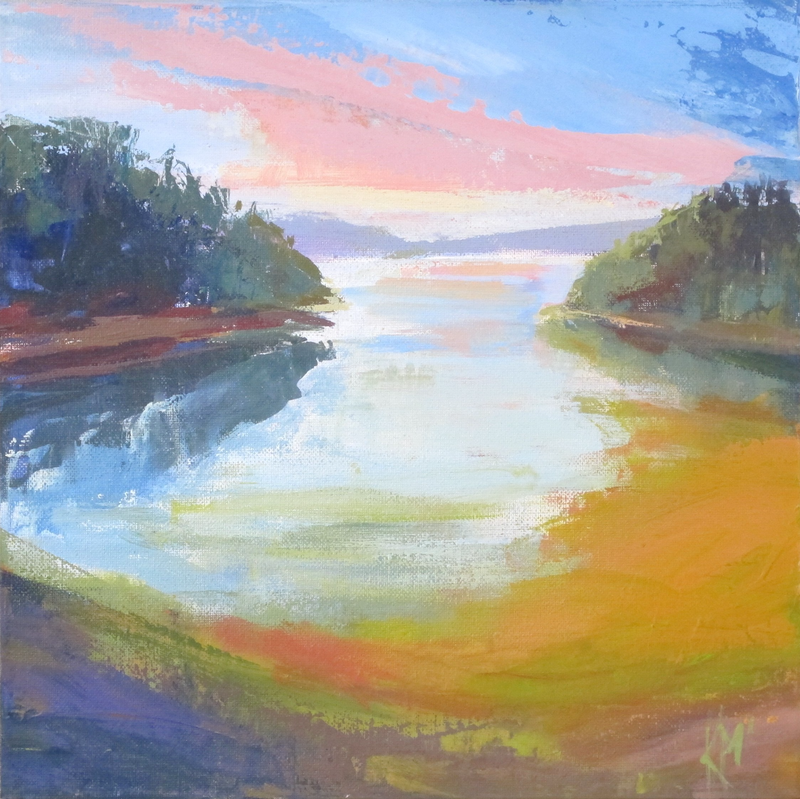 (CreativeWork) LAST LIGHT by Karen McPhee. arcylic-painting. Shop online at Bluethumb.