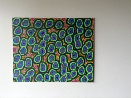 (CreativeWork) Green by Mitch Ianni. arcylic-painting. Shop online at Bluethumb.