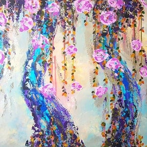 (CreativeWork) Intertwined (Birthday Sale) by Emily Lauro. arcylic-painting. Shop online at Bluethumb.