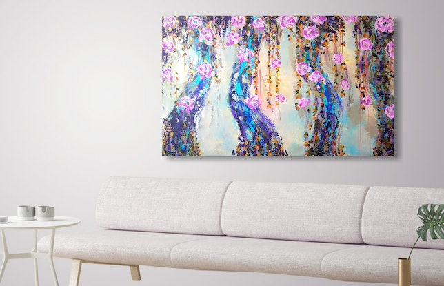 (CreativeWork) Intertwined by Emily Lauro. Acrylic Paint. Shop online at Bluethumb.
