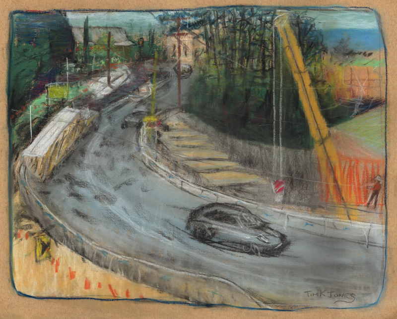 (CreativeWork) Highway Upgrade Wabi Sabi, Mt Victoria by Tim K Jones. drawing. Shop online at Bluethumb.
