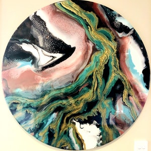 (CreativeWork) River of Resilience  by Julie Hooper. resin. Shop online at Bluethumb.