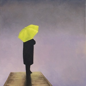 (CreativeWork) Lately Things Don't Seem The Same by Trisha Lambi. oil-painting. Shop online at Bluethumb.