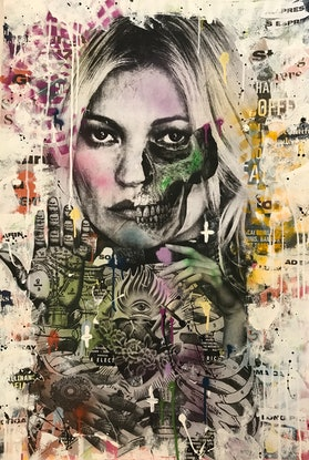 (CreativeWork) Kiss Me Kate by Cold Ghost. Mixed Media. Shop online at Bluethumb.