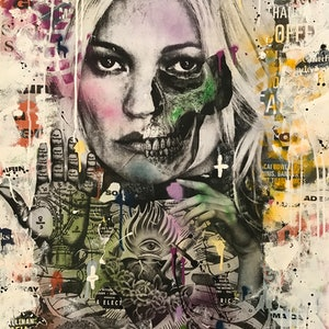 (CreativeWork) Kiss Me Kate by Cold Ghost. mixed-media. Shop online at Bluethumb.