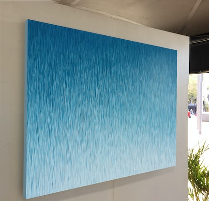(CreativeWork) 'Silent Showers'  122 x 81 cm acrylic painting on canvas  by George Hall. Acrylic Paint. Shop online at Bluethumb.