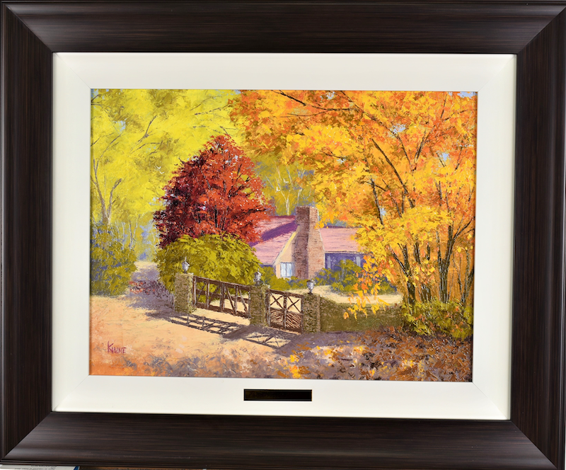 (CreativeWork) Sunny Autumn day in Mt Wilson, NSW  by Kith Gunawardane. oil-painting. Shop online at Bluethumb.