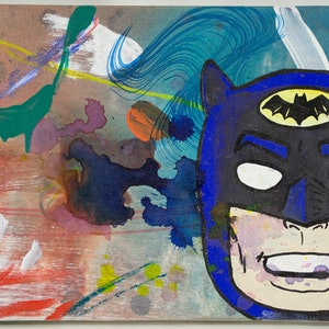 (CreativeWork) Batperson by Dave Court. mixed-media. Shop online at Bluethumb.