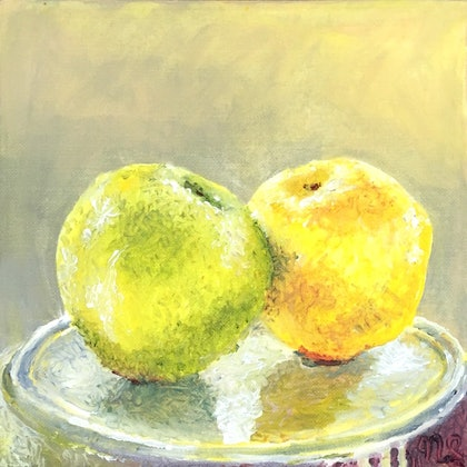(CreativeWork) Apples and Oranges   - Certificate of Authenticity  Ed. 2 of 100 by Natasha Scott. print. Shop online at Bluethumb.