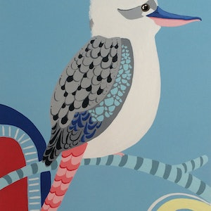 (CreativeWork) Laugh Kookaburra Laugh by emma whitelaw. other-media. Shop online at Bluethumb.
