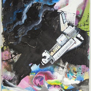 (CreativeWork) Apollo by Dave Court. mixed-media. Shop online at Bluethumb.